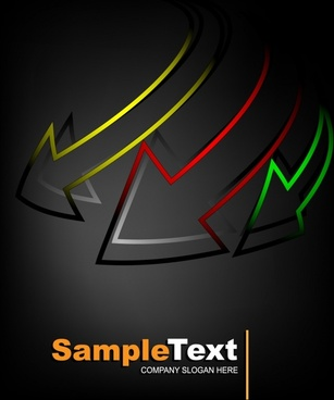 exquisite arrows background vector