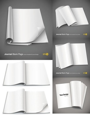 book pages icons blank 3d modern design