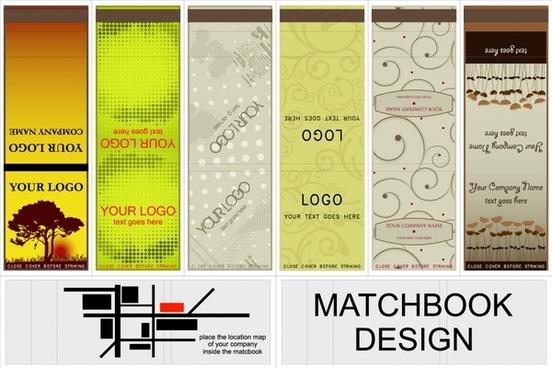 decorative bookmark templates vertical colored classic modern design