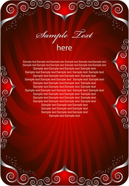 decorative background seamless symmetrical border red rays decor