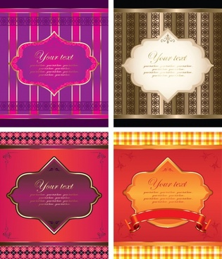 decorative background templates elegant colored classical decor