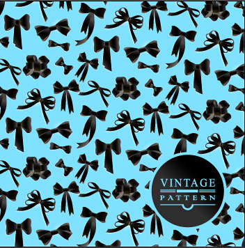 exquisite bow vector seamless pattern vector