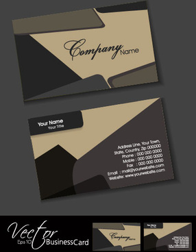 exquisite business cards design elements vector