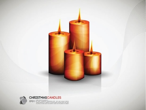 candles background colored modern 3d sketch