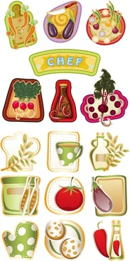 exquisite cartoon vegetables vector
