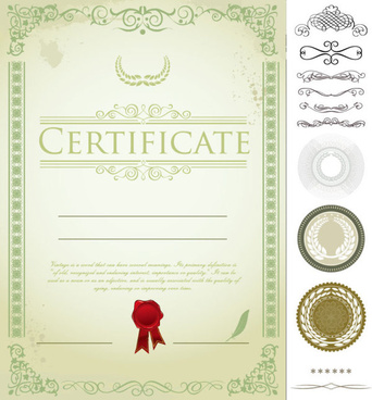 exquisite certificate cover templates vector set