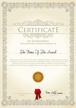 exquisite certificate cover templates vector set