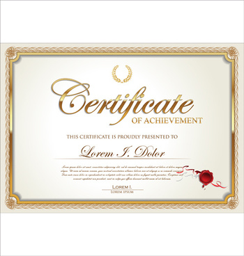 exquisite certificate frames with template vector