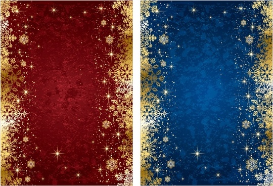 christmas background templates twinkling red blue decor
