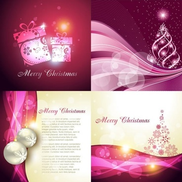 xmas background templates twinkling dynamic baubles decor