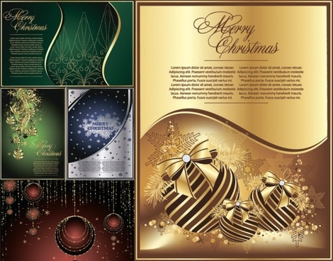 exquisite christmas cards vector