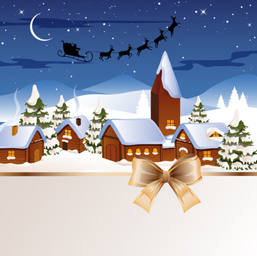 exquisite christmas elements collection vector