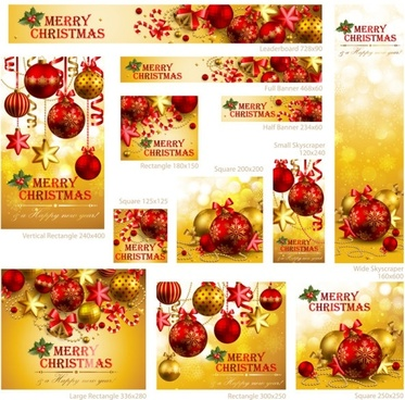 exquisite christmas promotional 01 vector