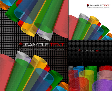 exquisite colorful backgrounds vector