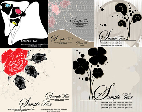 exquisite decorative painting background vector graphic