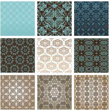 exquisite decorative pattern background vector