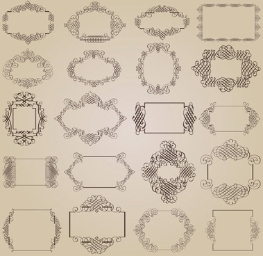 exquisite decorative patterns 01 vector
