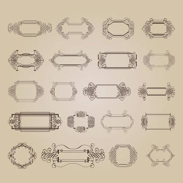 exquisite decorative patterns 03 vector
