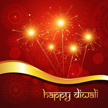 exquisite diwali background 02 vector