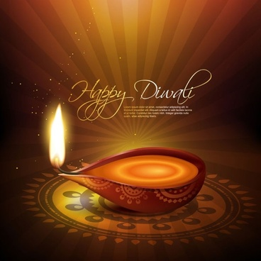 exquisite diwali background 03 vector