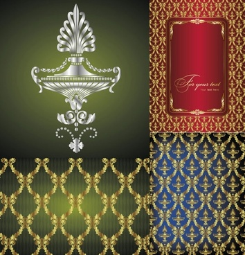 exquisite european fabric vector background