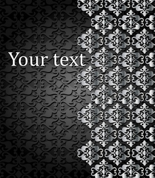 decorative background template dark elegant european symmetric decor