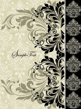exquisite europeanstyle lace pattern vector