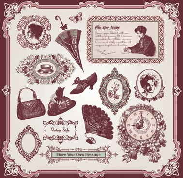 exquisite europeanstyle pattern label 04 vector