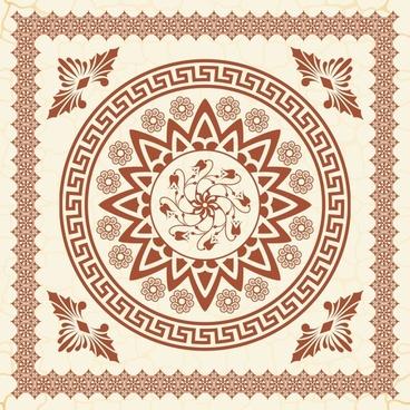 exquisite europeanstyle pattern vector