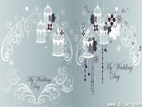 wedding background elegant curved floral bird cage decor