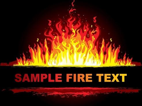 burning flame background dark orange yellow design