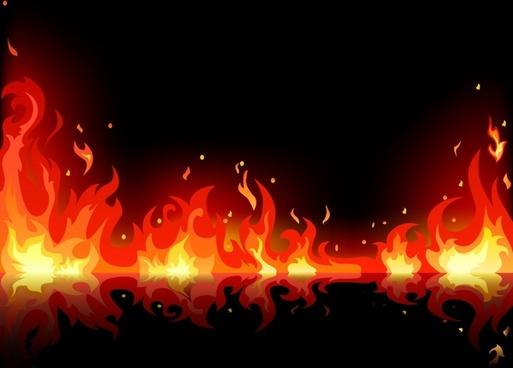 flame background modern dynamic design