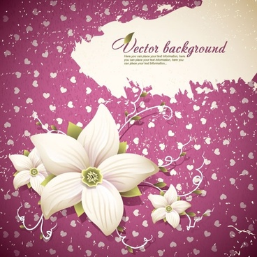exquisite floral background shading 01 vector