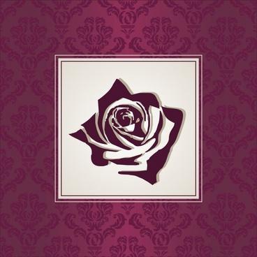 card cover template classic elegant rose petal decor