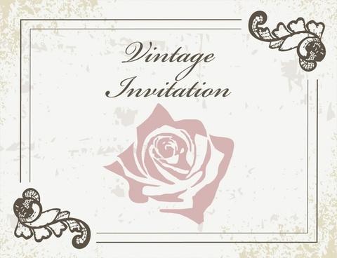 invitation card background elegant retro decor