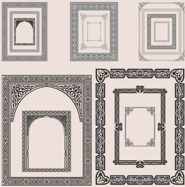 decorative border templates elegant retro decor