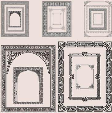decorative border templates elegant retro decor