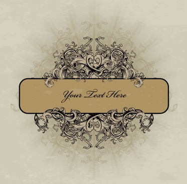 decorative border template elegant retro european symmetric ornament