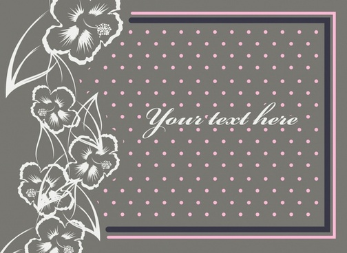 botany card template spots dark handdrawn decor