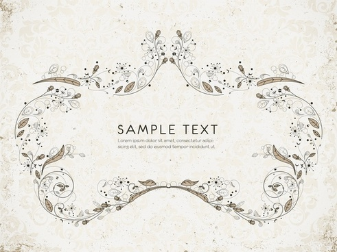 card decorative template elegant classical symmetric nature elements