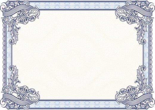 exquisite floral border vector