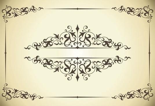 cetificate decor template elegant retro european symmetric design