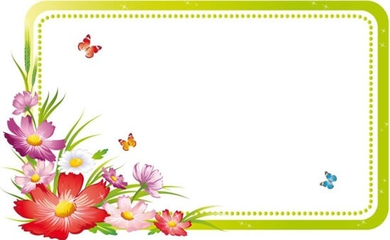 decorative frame template modern colorful floral decor