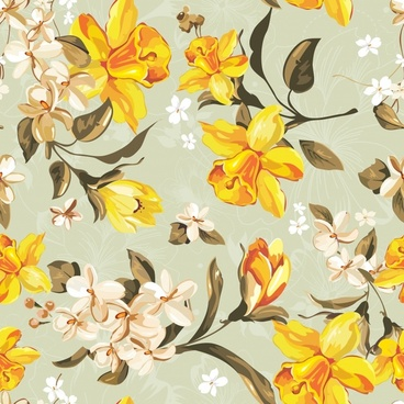 exquisite flower pattern vector