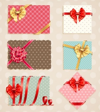exquisite gift bow vector