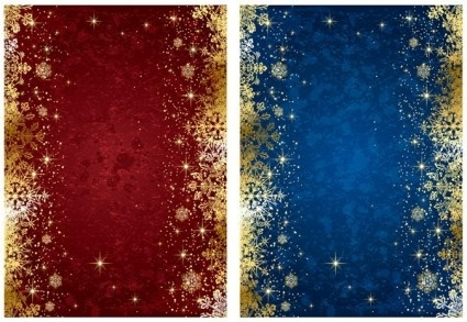 exquisite gold snowflake christmas background vector