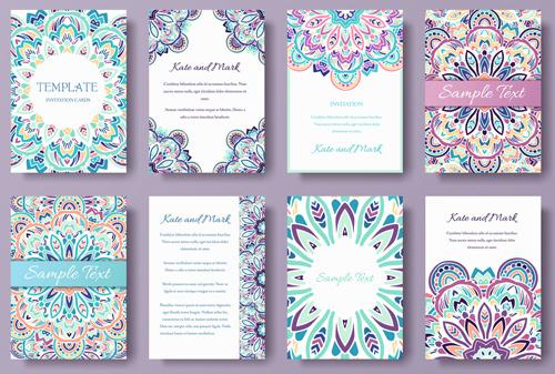 exquisite greeting card design elements vector