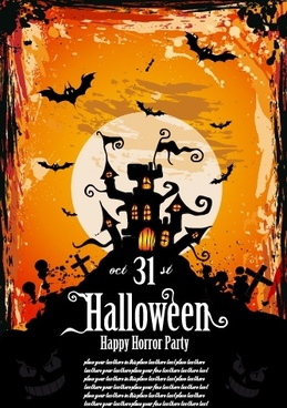 exquisite halloween poster vector