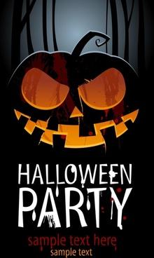 exquisite halloween pumpkin poster background vector