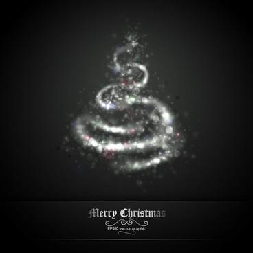 exquisite halo christmas tree 03 vector